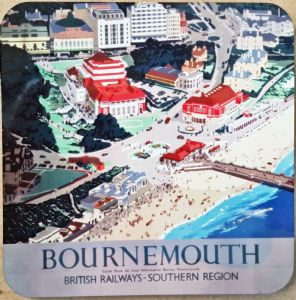 Bournemouth From The Air cork backed drinks coaster    (se)